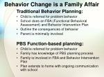 behavior change is a family affair53