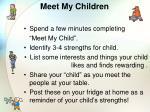 meet my children