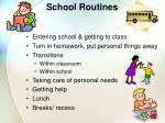 school routines
