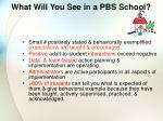 what will you see in a pbs school