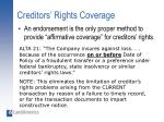 creditors rights coverage