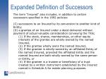 expanded definition of successors