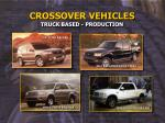 crossover vehicles truck based production