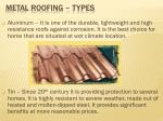 metal roofing types