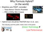 why formula hybrid in the world