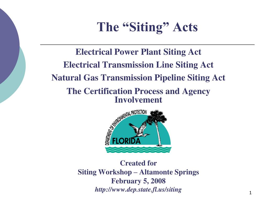 the siting acts l.