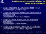 instituto de economia n cleo de economia industrial