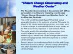 climate change observatory and weather center