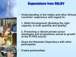 expectations from sslev