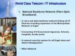 world class telecom it infrastructure