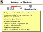 outsourcing von it leistungen