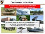 transformation der streitkr fte