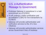 u s e authentication message to government
