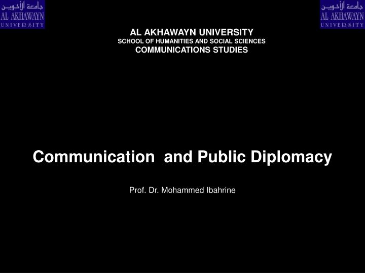 communication and public diplomacy n.