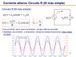 corriente alterna circuito r el m s simple