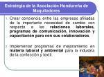 estrategia de la asociaci n hondure a de maquiladores
