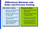 differences between job order and process costing