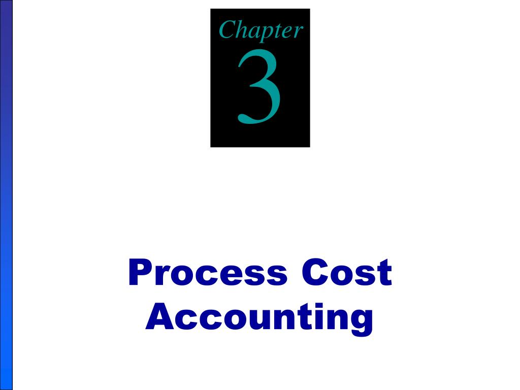 process cost accounting l.