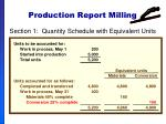production report milling53