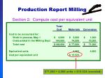 production report milling56