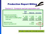 production report milling57