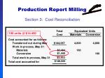 production report milling62