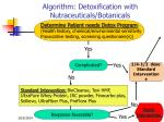 algorithm detoxification with nutraceuticals botanicals