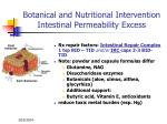 botanical and nutritional intervention intestinal permeability excess69