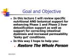 goal and objective5