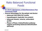 ratio balanced functional foods