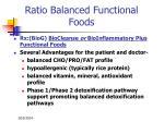 ratio balanced functional foods