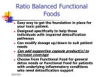ratio balanced functional foods93