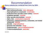 recommendation some substances rendered less toxic by gsh