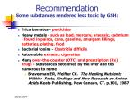 recommendation some substances rendered less toxic by gsh38