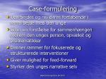 case formulering