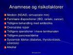 anamnese og risikofaktorer