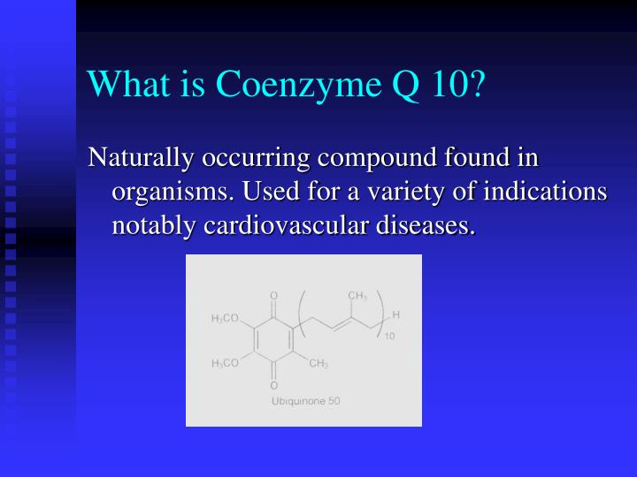 What is coenzyme q 10