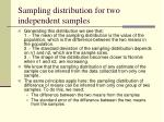 sampling distribution for two independent samples30