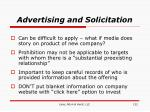 advertising and solicitation
