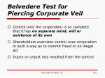 belvedere test for piercing corporate veil