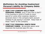 bizpointers for avoiding inadvertent personal liability for company debts136