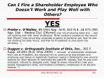 can i fire a shareholder employee who doesn t work and play well with others