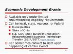 economic development grants