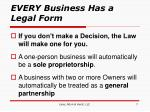 every business has a legal form