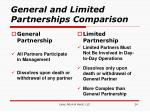 general and limited partnerships comparison
