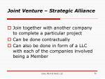joint venture strategic alliance