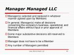 manager managed llc