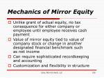 mechanics of mirror equity
