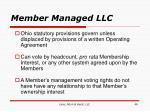 member managed llc