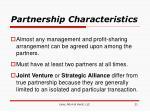 partnership characteristics